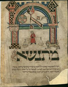 parchment festival prayerbook from the 13th century, featuring Ashkenazi calligraphy, with illumination and decoration in ink and color
