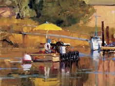 LAGUNA PLEIN AIR PAINTERS ASSOCIATION  Oyster Raft by Randall Sexton