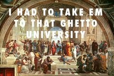 flyartproductions:  Epicurean life, Aristotelian life, did i not mention i was about to lose my mind? The School of Athens, Raphael (1509-1510) / All of the Lights, Kanye West feat. Rihanna and Kid Cudi with vocals by Fergie, Charlie Wilson, John Legend, Tony Williams, Alicia Keys, La Roux, The Dream, Ryan Leslie, Alvin Fields and Ken Lewis.