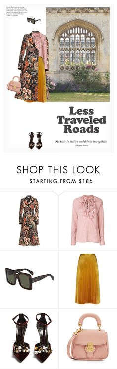 """""""LESS TRAVELED ROADS"""" by paint-it-black ❤ liked on Polyvore featuring STELLA McCARTNEY, Etro, CÉLINE, Whistles, Lanvin and Burberry"""
