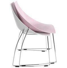 Démarquez-vous avec notre Chaise rose ou blanche en polypropylène et chrome design. Profitez de son prix canon !Chaise haut de gamme de fabrication européenne !