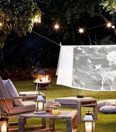 idéias para fazer um cinema no jardim