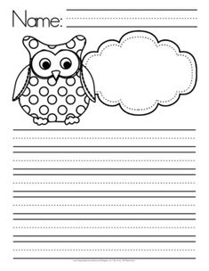 Owl Themed Writing Paper, Manuscript & Lined - FREE