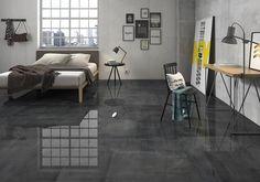 Light Grey Floor Tiles Living Room - Our Houzz Grey Floor Tiles, Grey Flooring, Stark, Houzz, Cement, Office Desk, New Homes, Living Room, Table
