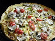 Dr Su's Egg Pizza - Primal with the cheese, but Paleo without.