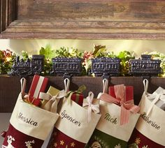 Pottery Barn, Train Stocking Holder  -  ideally it would be the Polar Express!