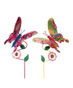 Take a look at this Butterfly Stake Set by Melrose on #zulily today!