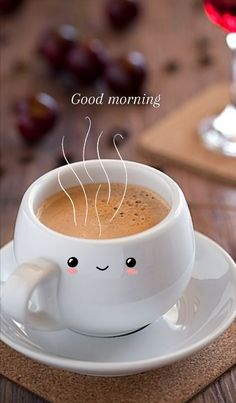 Coffee Love, Good Morning, Pudding, Dishes, Breakfast, Tableware, Desserts, Food, Snoopy
