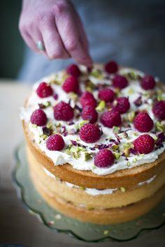 Wedding Bliss Simple Understated Wedding Nuptials| Serafini Amelia|  PhotoRaspberry, pistachio & rose cake