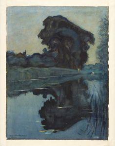 Farm between Trees. Piet Mondrian (1908)