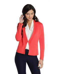 Get the structure + polish of a blazer in a soft cozy knit with our Dressed to Go Cardigan
