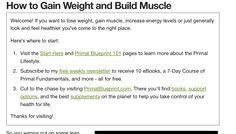http://www.marksdailyapple.com/gain-weight-build-muscle/#axzz3VEOAK5Tj   Gain Muscle