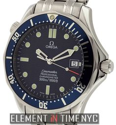 #Omega #Seamaster James Bond 41mm iN Stainless Steel With A Blue Wave Dial (2531.80.00)