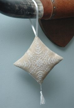 Snowflake Christmas Ornament Cross Stitch Pattern Instant Download