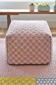 Pink handmade embroidered pouf Modern Pillows, Pillow Room, Old Art, Designer Throw Pillows, Cross Stitching, Weaving, Etsy Shop, Embroidery, Pink