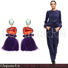 Pendientes Erika con piedras y flecos morados ★ 13'95 € en https://www.conjuntados.com/es/pendientes-erika-con-piedras-y-flecos-morados.html ★ #pendientes #earrings #conjuntados #conjuntada #joyitas #lowcost #jewelry #bisutería #bijoux #accesorios #complementos #moda #eventos #bodas #fashion #outfit #estilo #style #streetstyle #GustosParaTodas #ParaTodosLosGustos