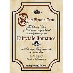 Fairy Tale Filigree Wedding Invitation Snow White Disney
