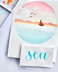 Watercolor and brush lettering