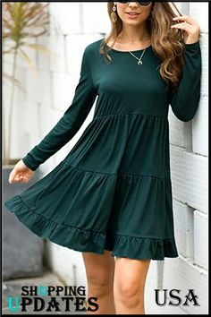 Trendy Dresses, Casual Dresses, Short Dresses, Casual Outfits, Fashion Outfits, Women's Dresses, Party Dresses, Swing Dress With Pockets, Sunday Outfits