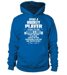 Being A Hockey Player T-Shirt (Hoodie Unisex - Royal Blue) #sports #workouts #cooking hockey memes, hockey bedroom, field hockey, dried orange slices, yule decorations, scandinavian christmas Psychobilly, Quotes Girlfriend, Air Force Mom, Marine Mom, Hockey Mom, Ice Hockey, Field Hockey, Hockey Gear, Hockey Shirts
