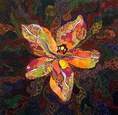 "Wild Child - 2007 40"" x 40"".   By Barbara Olson"