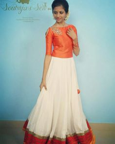 New Dress Simple Long Crop Tops Ideas Skirt Blouse Design, Sari Blouse Designs, Lehenga Designs, Dress Designs, Long Gown Dress, Lehnga Dress, Dress Skirt, Lehenga Blouse, Frock Fashion