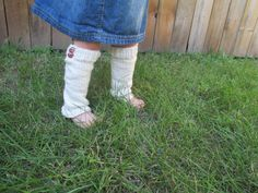 Little Leg Warmers in Off White - available in infant, toddler, and child sizes - by KnitsofGrace on etsy.com
