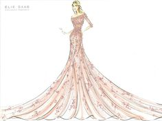 Elie Saab haute couture illustration ;)
