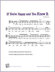 If You're Happy and You Know It | Free Sheet Music (Music, Chords, and Lyrics)