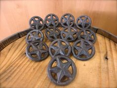 CAST IRON TEXAS STAR DRAWER HANDLE CABINET KNOB