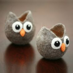 felted mini owls..