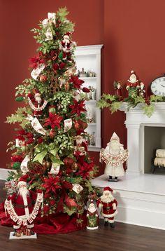 Merry Christmas Santa Clause themed Christmas Tree. http://www.seasonalconceptsonline.com/