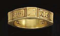ENGLISH, 15TH CENTURY POSEY FINGER RING IN THE FORM OF A KNIGHT'S BELT