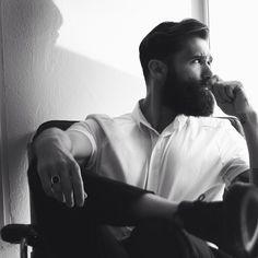 Luke Ditella looking amazing - thick black dark beard and mustache beards bearded man men mens' style bearding handsome #beardsforever