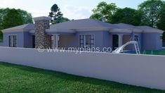 3 Bedroom House Plan – My Building Plans South Africa Round House Plans, Split Level House Plans, Square House Plans, Metal House Plans, My House Plans, Family House Plans, Village House Design, Village Houses, My Building