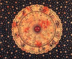 Horoscope #Tapestry Hippie Tapestry, #Bohemian Indian Zodiac Astrology Tapestry art  Buy Now :