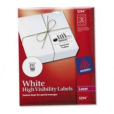 Avery R White High Visibility Labels For Laser Printers 5294 2