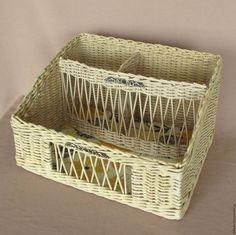 """Купить Органайзер плетеный """"Изыск"""" - желтый, органическая косметика, органайзер для документов, хранение вещей"""
