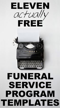 Funeral Service Outlines