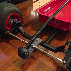 Kids Wagon Toy Wagon Radio Flyer Wagons Derby Cars Wheelbarrow Pedal Cars Little Red Wagon Drift Trike Karting Custom Radio Flyer Wagon, Radio Flyer Wagons, Kids Wagon, Toy Wagon, Metal Projects, Welding Projects, Chariot Manutention, Go Kart Steering, Little Red Wagon