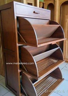 Shoe Storage Design, Shoe Cabinet Design, Wooden Shoe Cabinet, Wooden Shoe Racks, Closet Shoe Storage, Diy Shoe Rack, Shoe Storage Cabinet, Rack Design, Shoe Storage Solutions