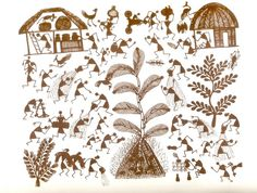 Traditional Folk Art From India (Book on Warli Paintings