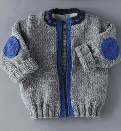 This Pin was discovered by Jud Baby Boy Knitting, Knitting For Kids, Baby Knitting Patterns, Knitting Designs, Baby Patterns, Cardigan Bebe, Baby Cardigan, Crochet For Boys, Crochet Baby