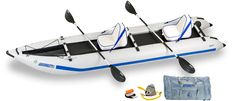 Amazon.com : Sea Eagle 435 Paddle Ski Catamaran Inflatable Kayak with Deluxe Package : Fishing Kayaks : Sports & Outdoors