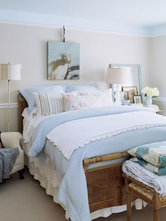 costal bedroom | ... , Nautical & Beach Decorating & Crafts: 9 ...