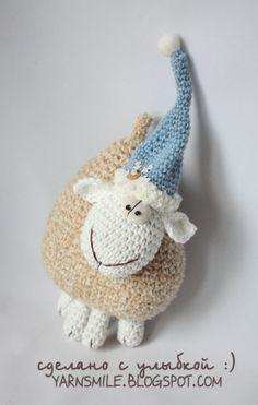 Amigurumi crochet sheep in hat pattern  IN ENGLISH LANGUAGE