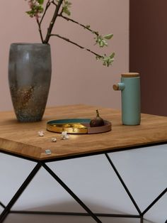 TULIP PROSTOKĄT minimalistyczny stolik kawowy styl loftowy Mebloscenka Vase, Coffee, Furniture, Design, Home Decor, Homemade Home Decor, Flower Vases, Home Furnishings, Jars