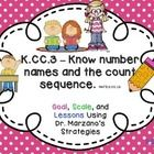ALIGNED WITH COMMON CORE STANDARD K.C.C.3 AND FLORIDA STANDARD MAFS .K.CC.1.3 [Know number names and the count sequence.]  Table of Contents  *Page...