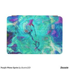Purple Water Sprite iPad Mini Cover Designed by AustinLED on Zazzle.
