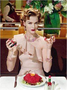 'A Precious Glam' by Miles Aldridge, Vogue Italia
